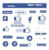 Facebook gosta Imagens de Stock