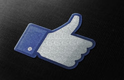 Facebook gradice fotografia stock