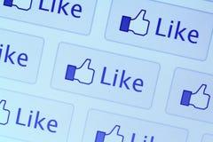 Facebook gradice l'icona Fotografie Stock Libere da Diritti