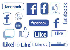 Facebook gradisce royalty illustrazione gratis