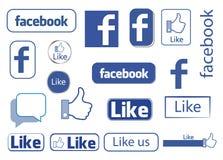 Facebook gradisce Fotografie Stock Libere da Diritti