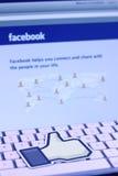 Facebook gradisce l'icona Immagini Stock Libere da Diritti