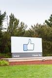 Facebook högkvarter i Menlo Park, Kalifornien Arkivfoton
