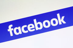 Facebook has changed its logo Stock Photography