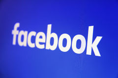 Facebook has changed its logo Stock Image