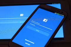 Facebook-het scherm Stock Afbeelding