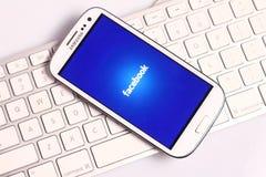 Facebook-het scherm royalty-vrije stock foto