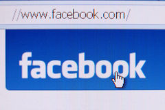 Facebook homepage Stockfoto