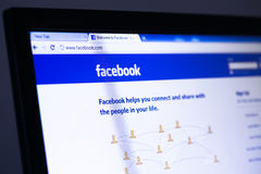 Facebook homepage stockbilder