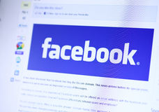 Facebook Homepage Royalty Free Stock Image