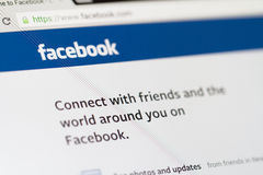 Facebook-Homepage Stockbilder