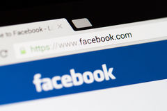 Facebook-Homepage-Logo Lizenzfreies Stockbild