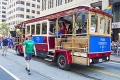 Facebook i San Francisco glad stolthet Arkivfoto