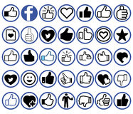 Facebook Icon Collection Royalty Free Stock Photography