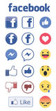 FACEBOOK ICON LOGO AND REACTION SET VECTOR Stock Photo