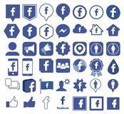 Facebook icon, Social Media royalty free illustration