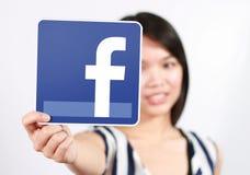 Facebook ikona Zdjęcie Stock