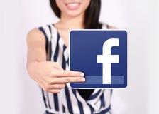 Facebook ikona Obrazy Stock