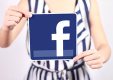Facebook ikona Obraz Royalty Free