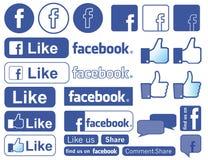 Facebook-Ikone lizenzfreie stockbilder