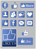 Facebook-Ikonen Lizenzfreie Stockbilder