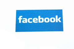 Facebook on internet. Facebook website logo on internet Royalty Free Stock Photos