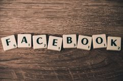 Facebook, Internet, Letters royalty free stock photo