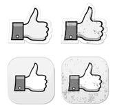 Facebook jak ono grunge guzik Obraz Royalty Free