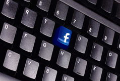 Facebook keyboard Royalty Free Stock Photo
