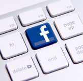 Facebook keyboard Stock Photo