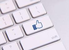 Facebook keyboard Stock Photos
