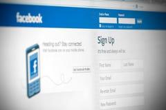 Facebook-Konzept Stockbild