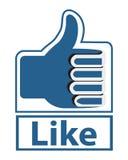 Facebook like vector illustration