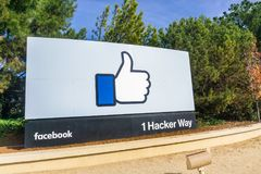 The Facebook Like Button sign stock image