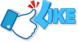 Facebook Like Design. Three dimension style and high quality image Stock Images