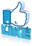 Facebook Like Design Royalty Free Stock Image