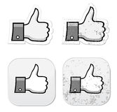 Facebook like it grunge button Royalty Free Stock Image