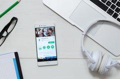 Facebook Lite zastosowanie dostępny na Google sztuki sklepie Obrazy Stock