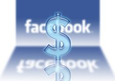 Facebook loga $ dolarowe sprzedaże Zdjęcia Stock