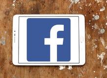 Facebook logo. Facebook application logo and vector on samsung tablet Royalty Free Stock Photos