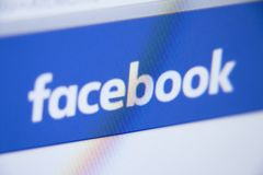 Facebook Logo Close-up - Security Protection stock images