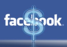 Facebook logo dollar $ sales Royalty Free Stock Photo
