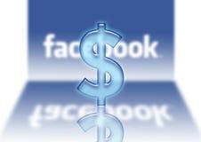 Facebook logo dollar $ sales. Facebook $ cash social networking sales stock illustration