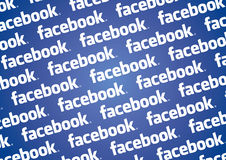 Facebook logo wall Royalty Free Stock Images