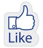 Facebook lubi Zdjęcie Stock
