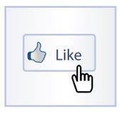 Facebook lubi Fotografia Royalty Free