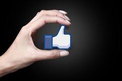 Facebook Lubi ikonę zdjęcia stock