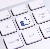Facebook lubi klawiaturę zdjęcia royalty free
