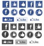 Facebook mögen lizenzfreie abbildung