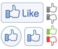 Facebook mögen Ikone Stockfotos